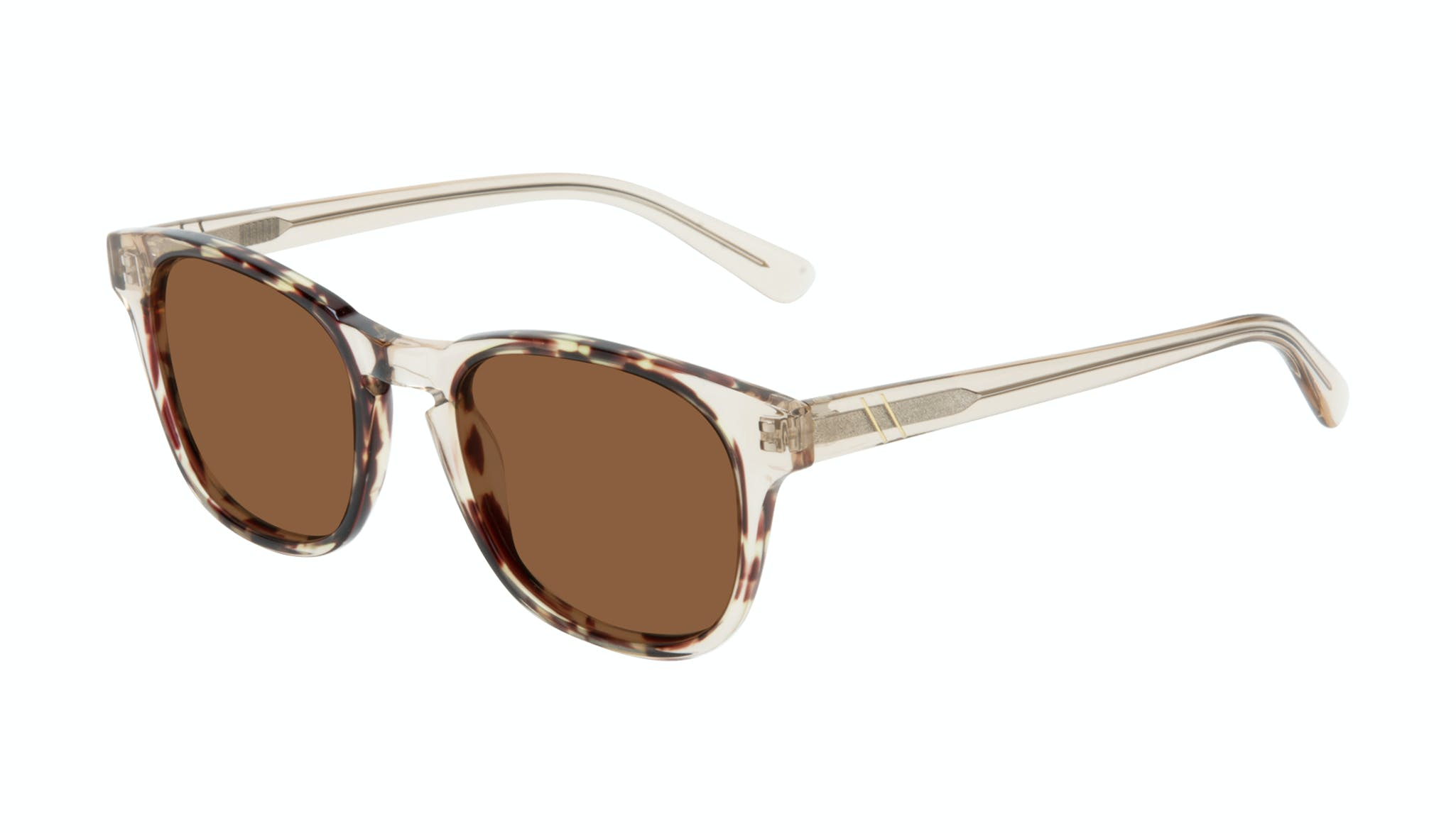 Affordable Fashion Glasses Square Sunglasses Men Outline Golden Tort Tilt