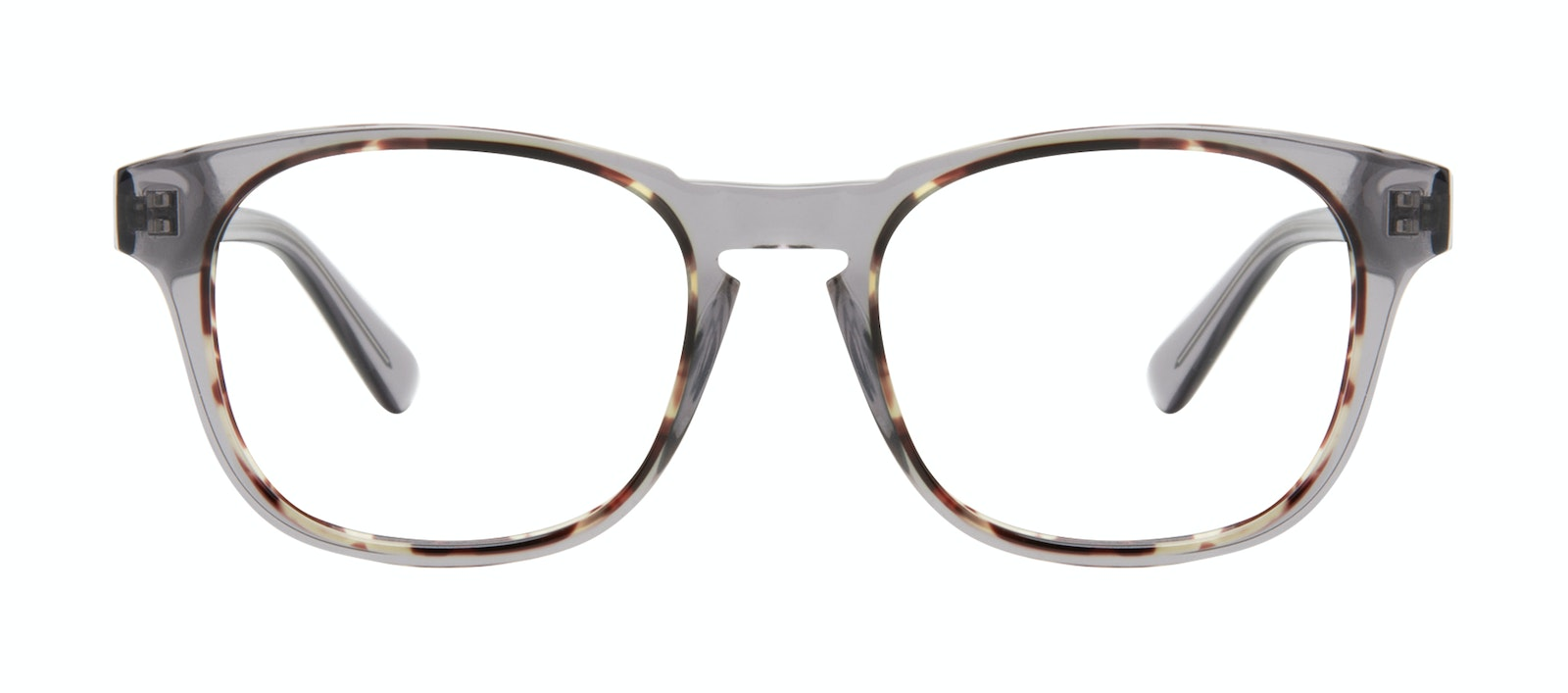 Affordable Fashion Glasses Square Eyeglasses Men Outline Smokey Tort Front