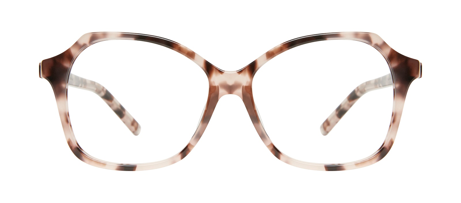 Affordable Fashion Glasses Square Eyeglasses Women Outlook Marbled Pink Front