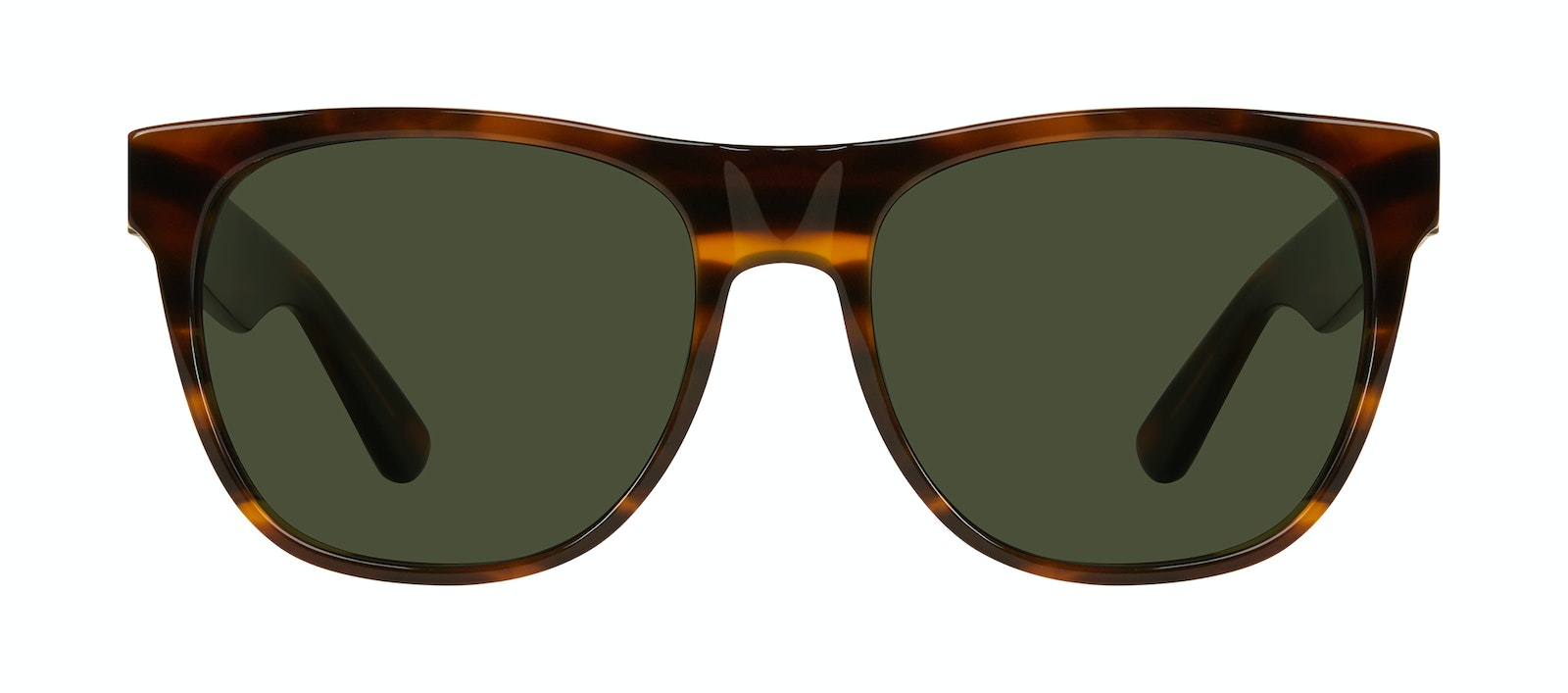 Affordable Fashion Glasses Square Sunglasses Men Palm Tortoise Front