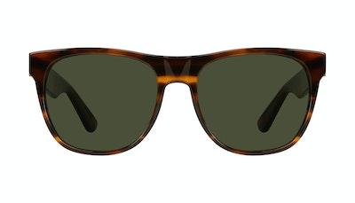 Lunettes tendance Carrée Lunettes de soleil Hommes Palm Tortoise Face