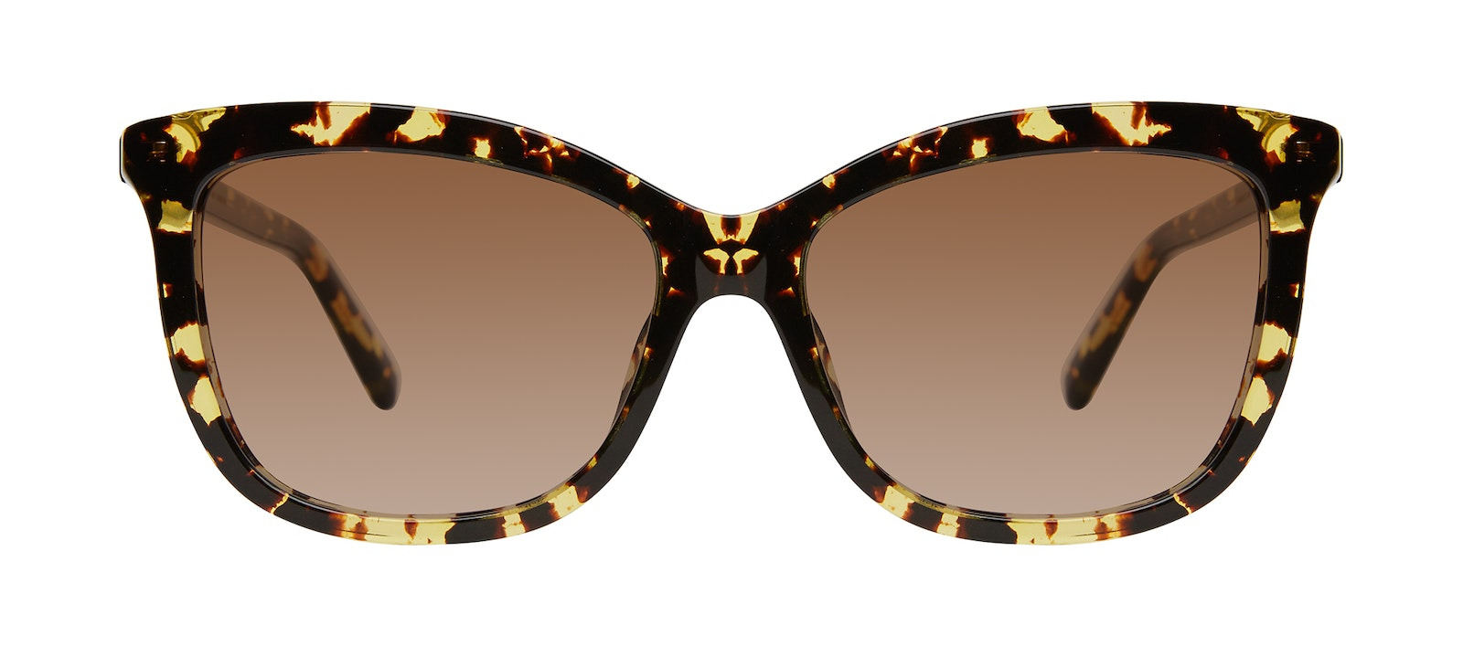 Affordable Fashion Glasses Cat Eye Sunglasses Women Paparazzi Gold Flake Front
