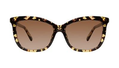 Affordable Fashion Glasses Cat Eye Sunglasses Women Paparazzi Gold Flake Front