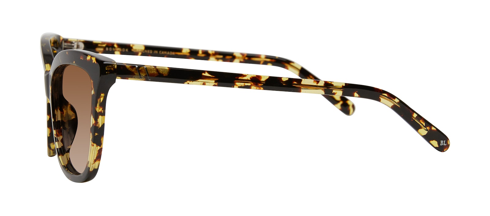 Affordable Fashion Glasses Cat Eye Sunglasses Women Paparazzi Gold Flake Side