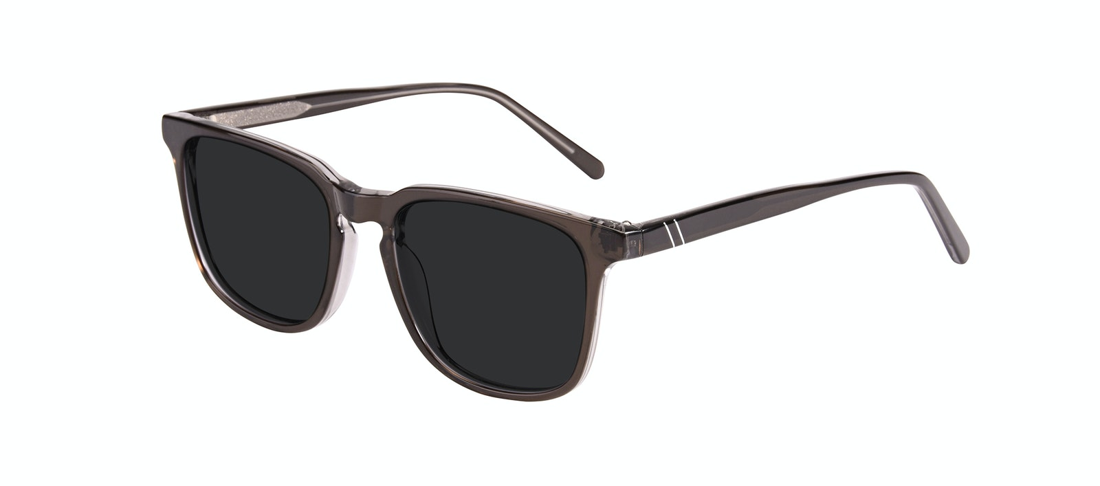 Affordable Fashion Glasses Rectangle Square Sunglasses Men Peak Black Ice Tilt