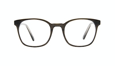 Affordable Fashion Glasses Rectangle Square Eyeglasses Men Peak Black Ice Front
