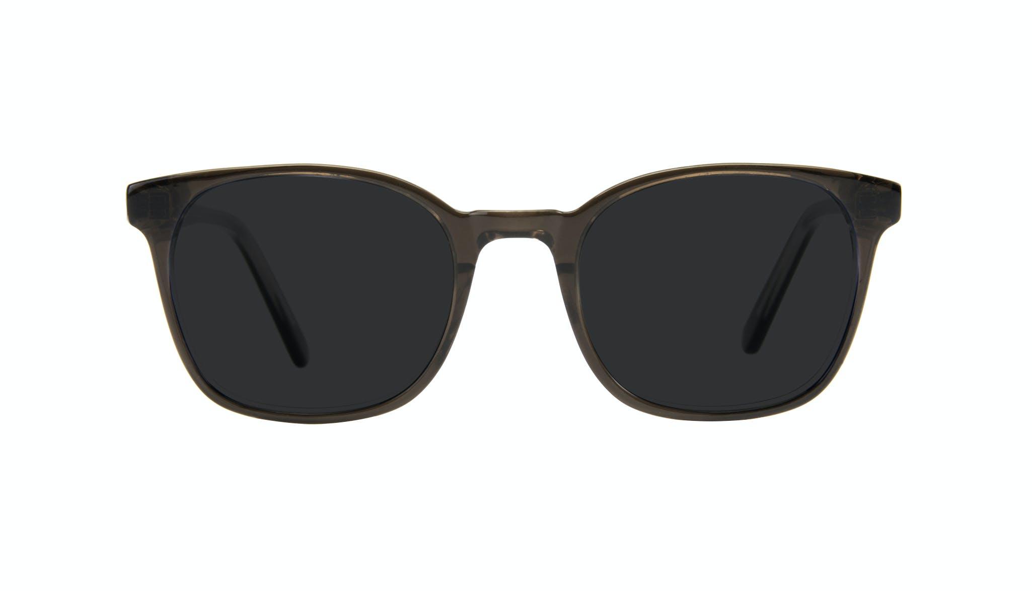 Affordable Fashion Glasses Rectangle Square Sunglasses Men Peak Black Ice Front