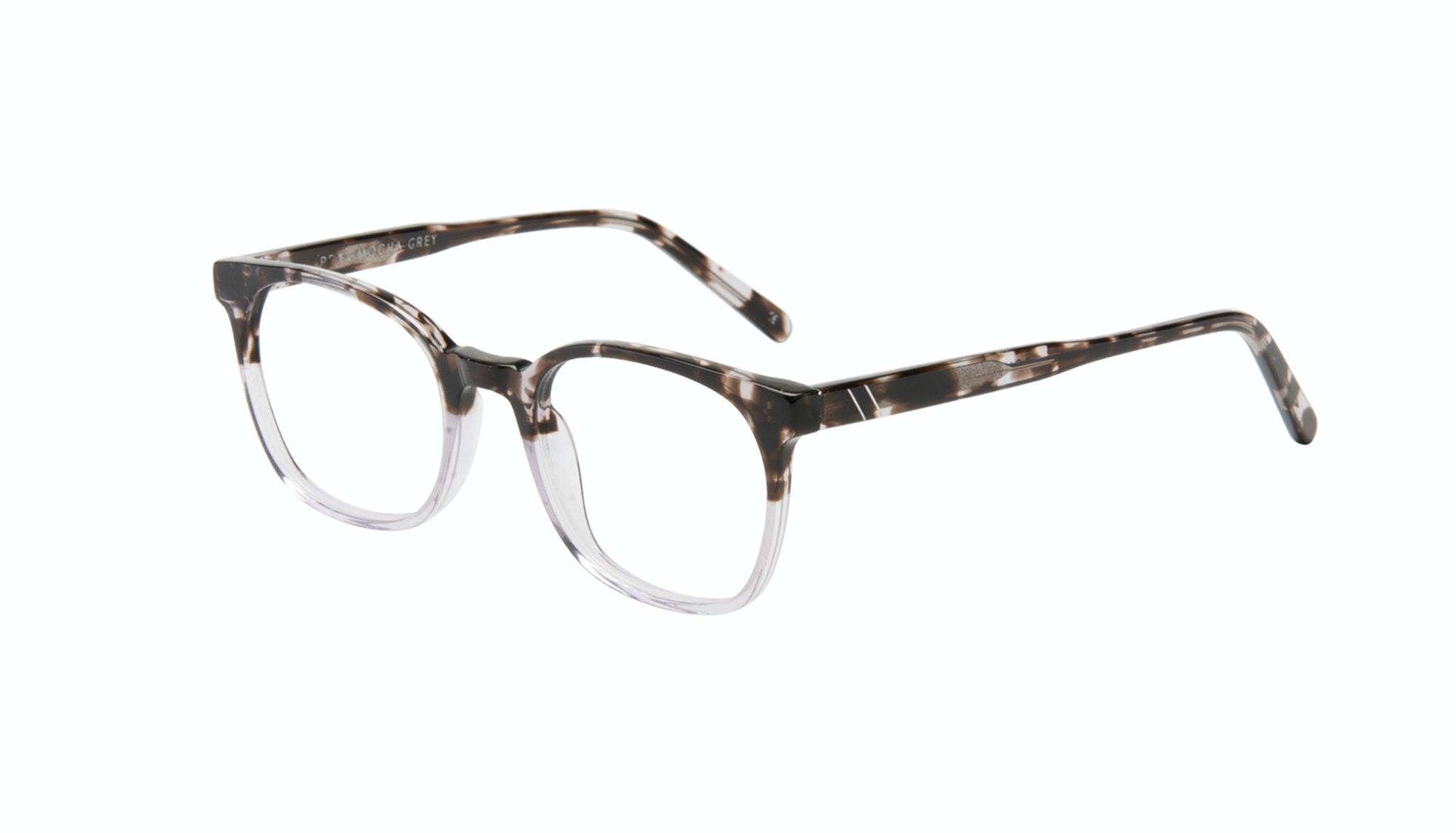 Affordable Fashion Glasses Rectangle Square Eyeglasses Men Peak Mocha Grey Tilt