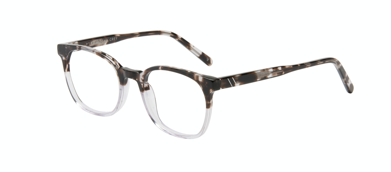 Affordable Fashion Glasses Rectangle Square Eyeglasses Men Peak Mocha Grey Tilt