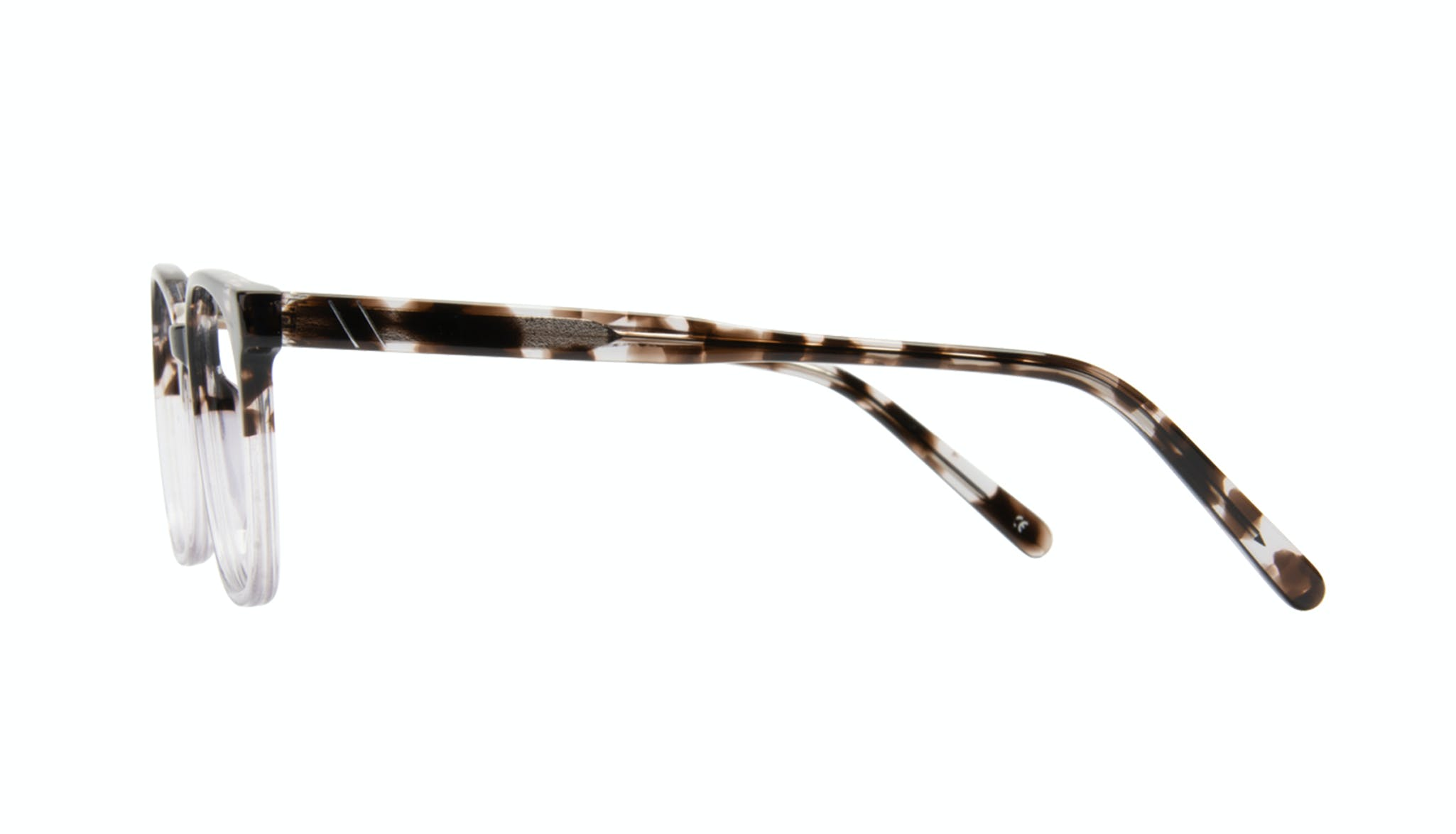Affordable Fashion Glasses Rectangle Square Eyeglasses Men Peak Mocha Grey Side