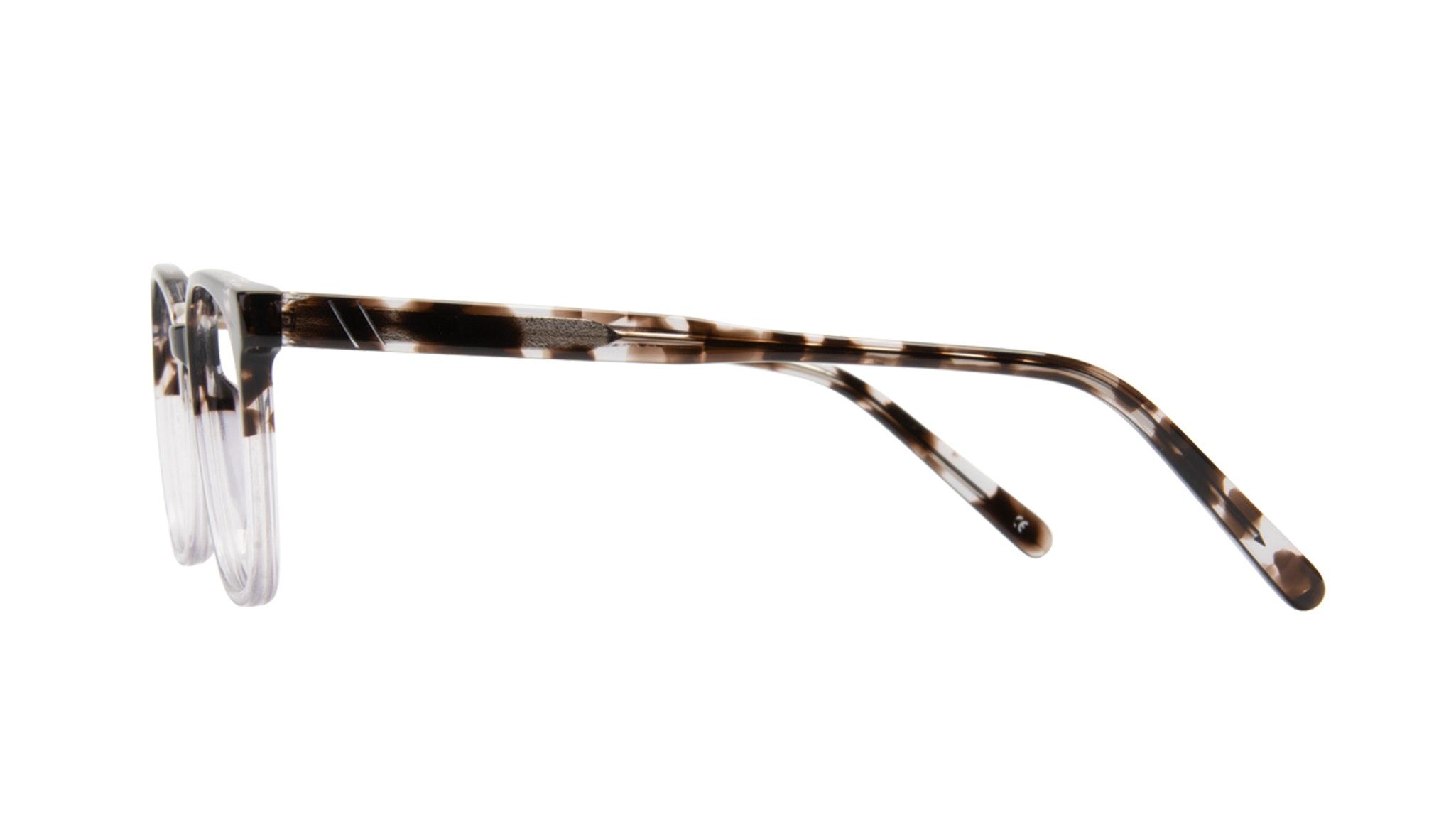 Affordable Fashion Glasses Rectangle Square Eyeglasses Men Peak Mocha Grey Side