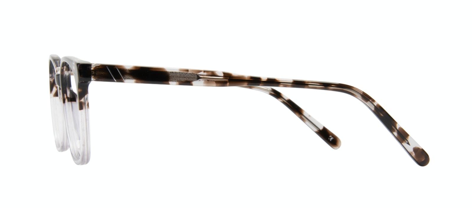 Lunettes tendance Rectangle Carrée Lunettes de vue Hommes Peak Mocha Grey Profil