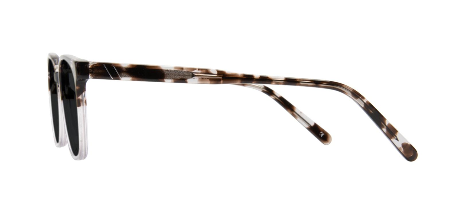 Affordable Fashion Glasses Rectangle Square Sunglasses Men Peak Mocha Grey Side
