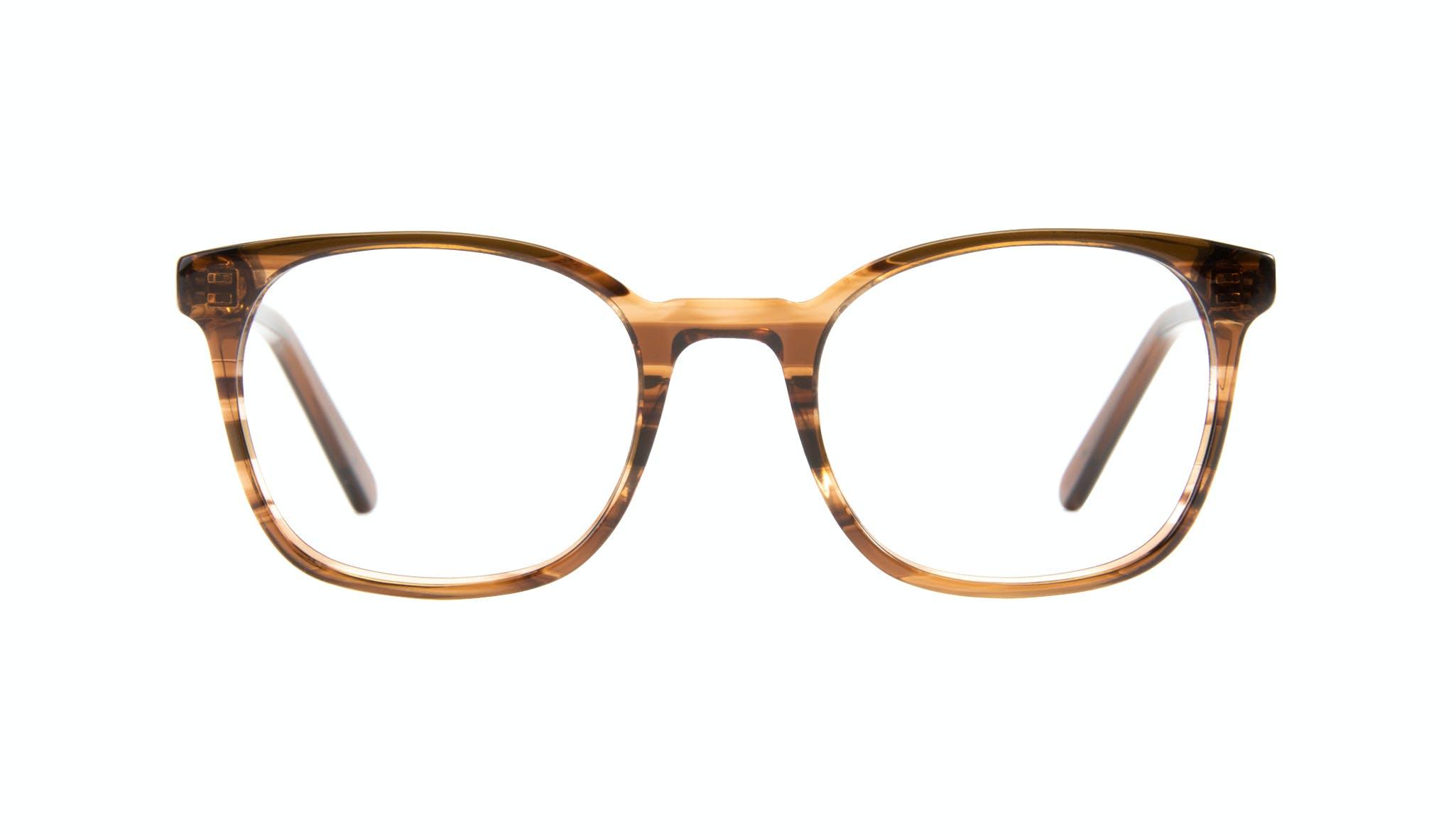 Affordable Fashion Glasses Rectangle Square Eyeglasses Men Peak Wood Front