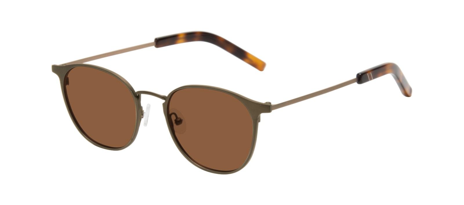 Affordable Fashion Glasses Round Sunglasses Men Point Khaki Tilt