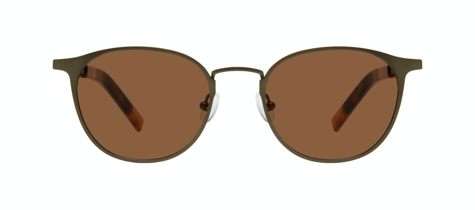 Affordable Fashion Glasses Round Sunglasses Men Point Khaki Front