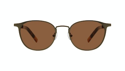 Affordable Fashion Glasses Round Sunglasses Men Point Khaki Front
