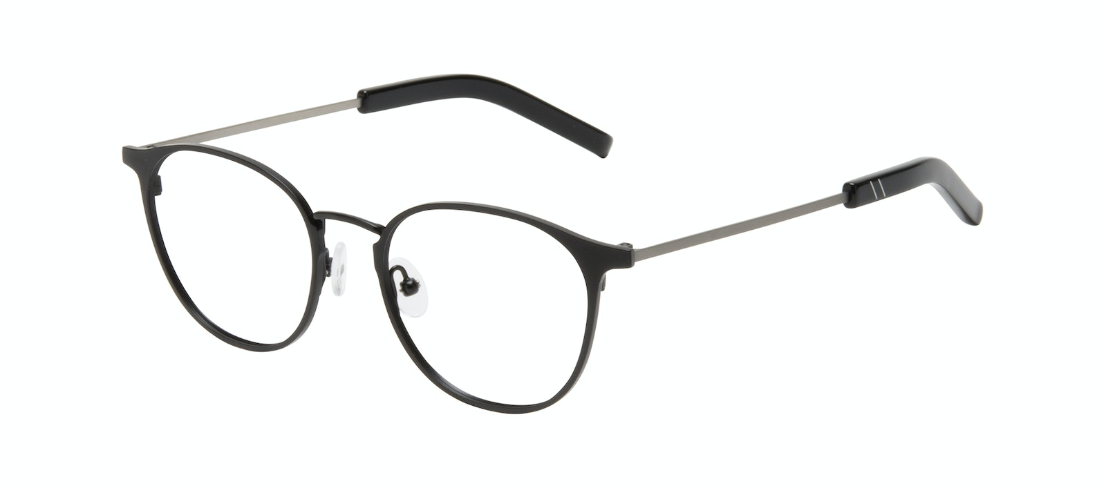 Affordable Fashion Glasses Round Eyeglasses Men Point Onyx Matte Tilt