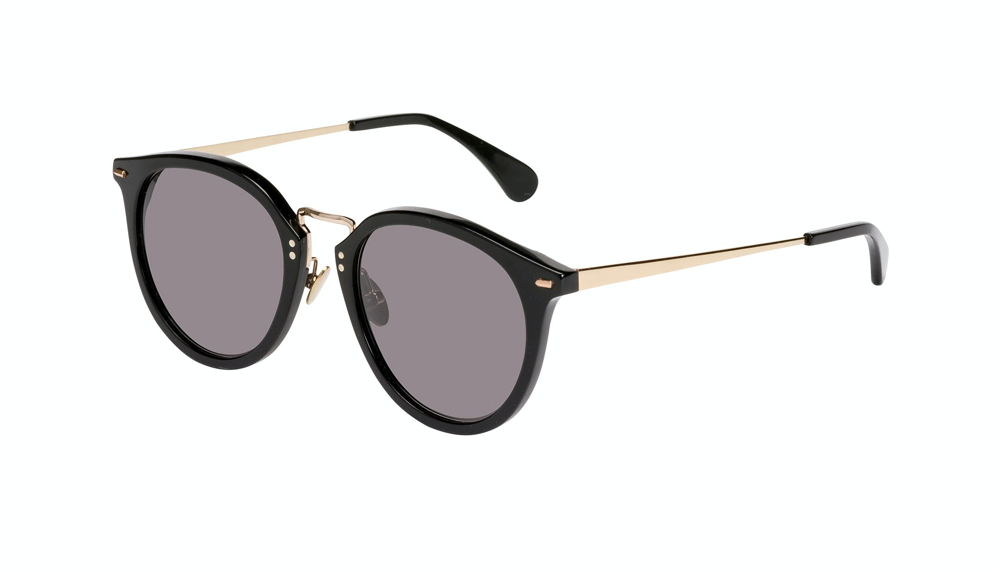 Affordable Fashion Glasses Round Sunglasses Women Poppy Ferris Tilt