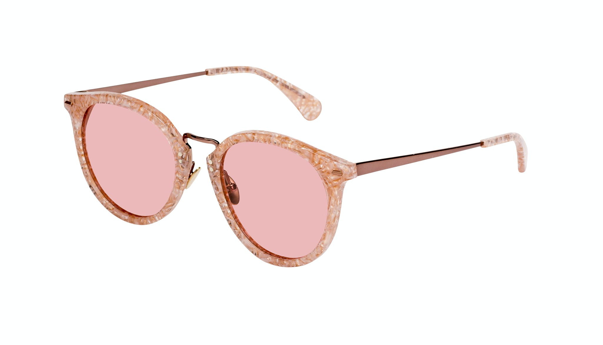 Affordable Fashion Glasses Round Sunglasses Women Poppy Provence Tilt