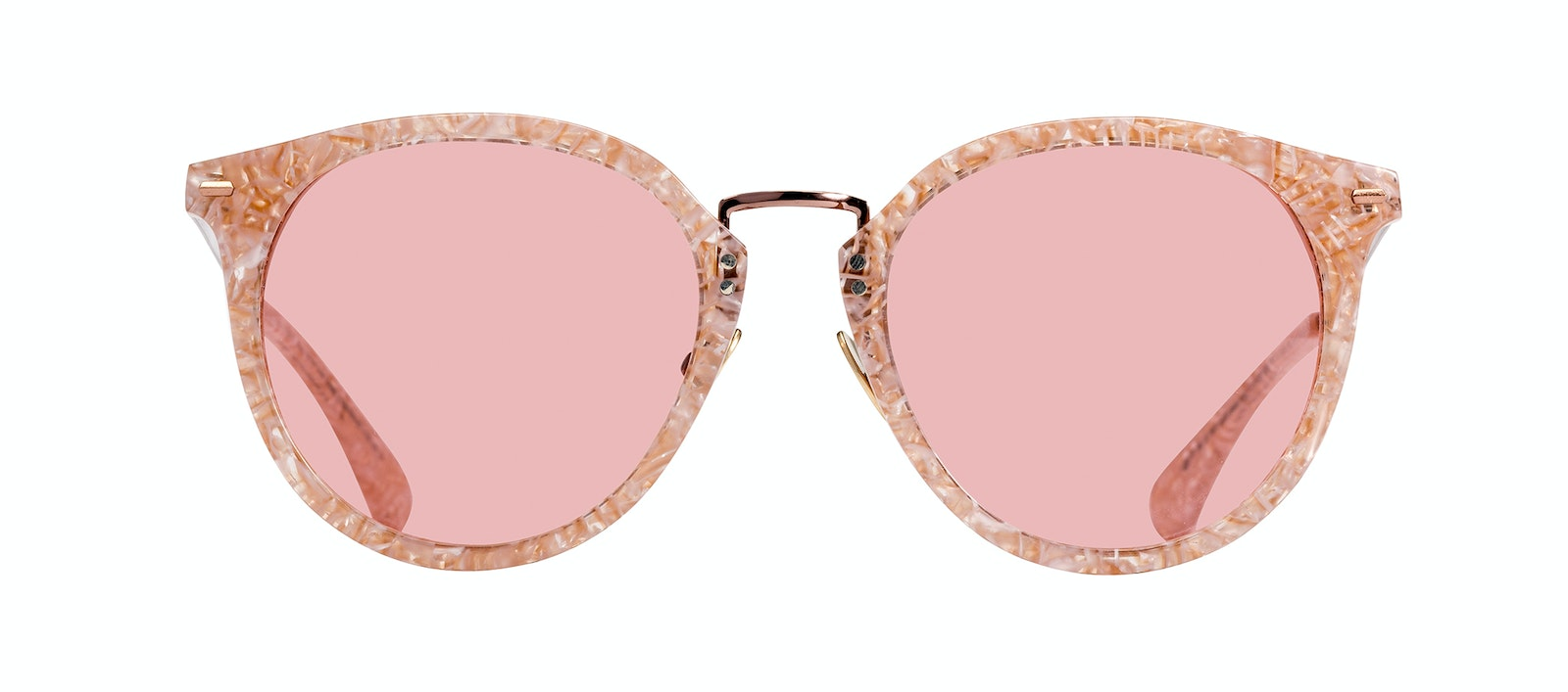 Affordable Fashion Glasses Round Sunglasses Women Poppy Provence Front