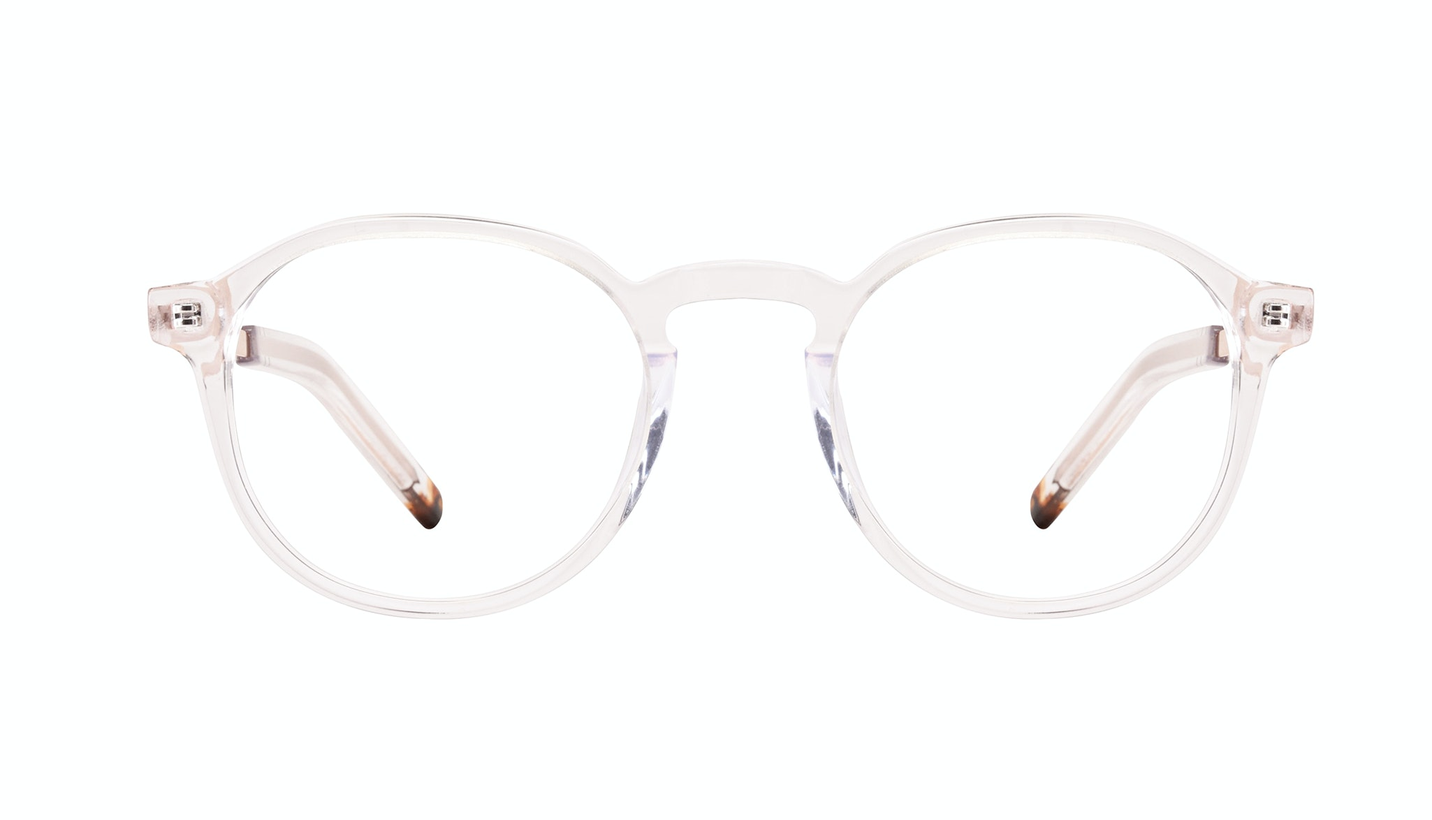 Affordable Fashion Glasses Round Eyeglasses Men Prime XL Clear Front