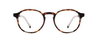 Affordable Fashion Glasses Round Eyeglasses Men Prime L Mahogany Front