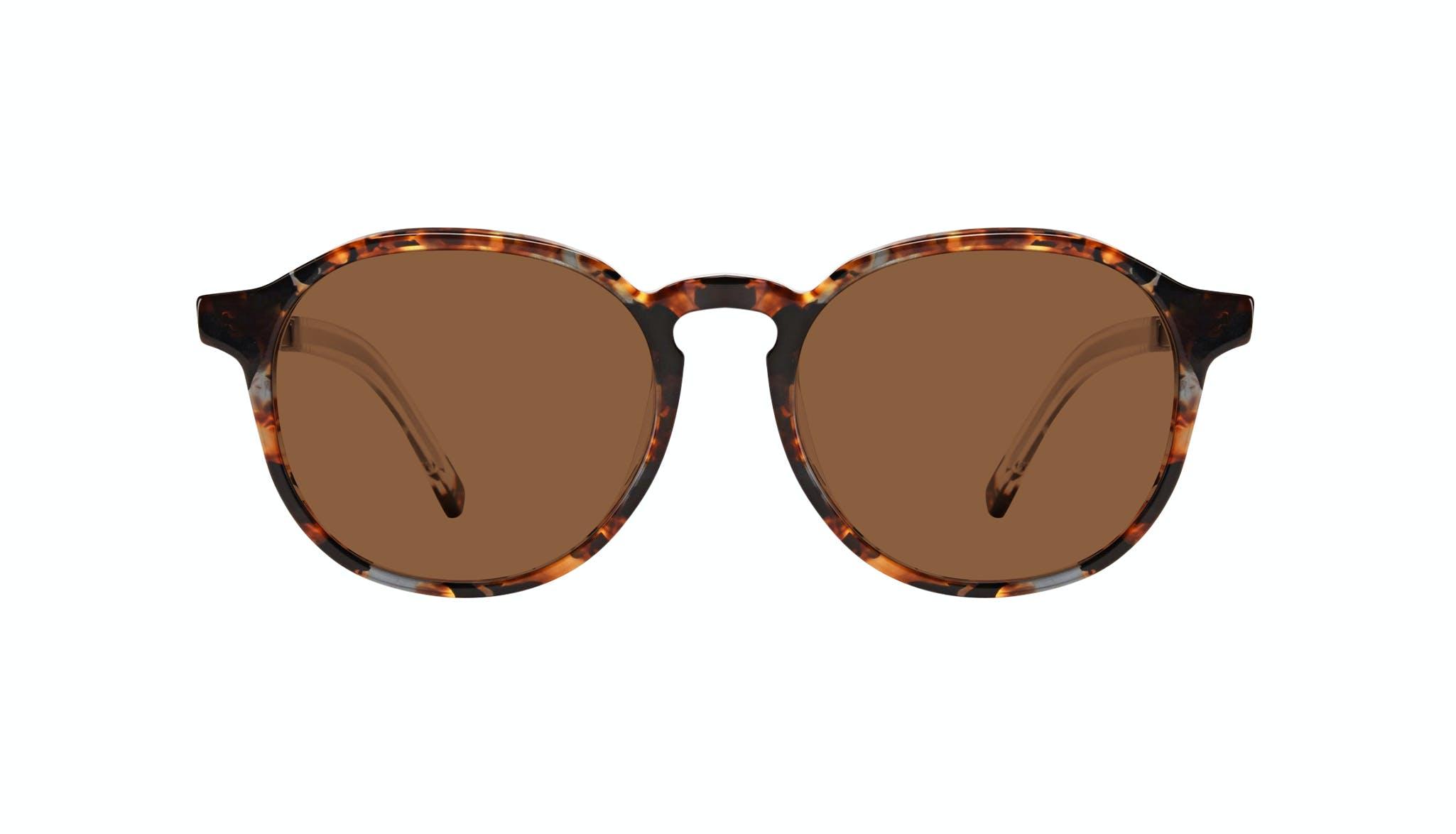 Affordable Fashion Glasses Round Sunglasses Men Prime XL Mahogany Front