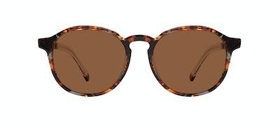 Affordable Fashion Glasses Round Sunglasses Men Prime L Mahogany Front