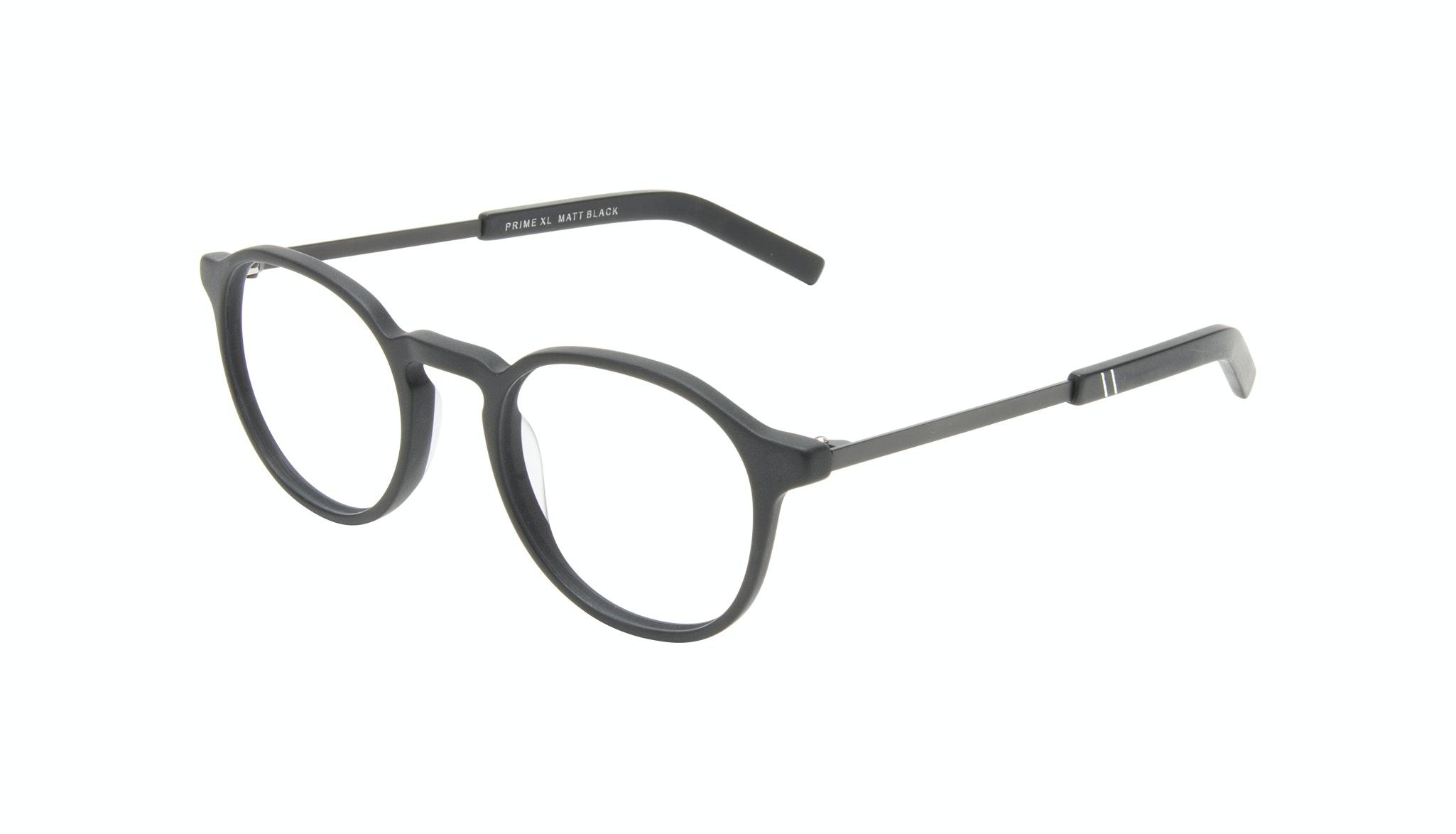 Affordable Fashion Glasses Round Eyeglasses Men Prime XL Matte Black Tilt