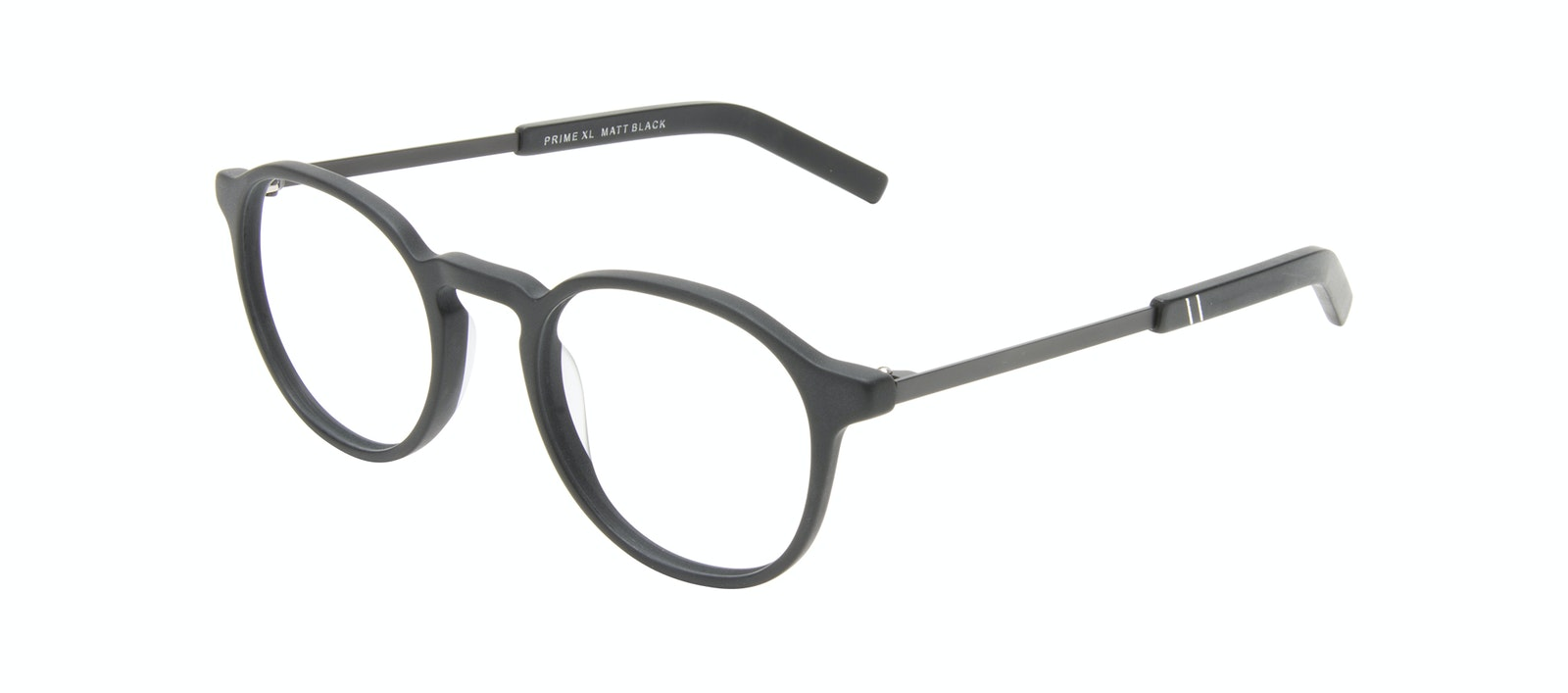 Affordable Fashion Glasses Round Eyeglasses Men Prime XL Matte Black Tilt