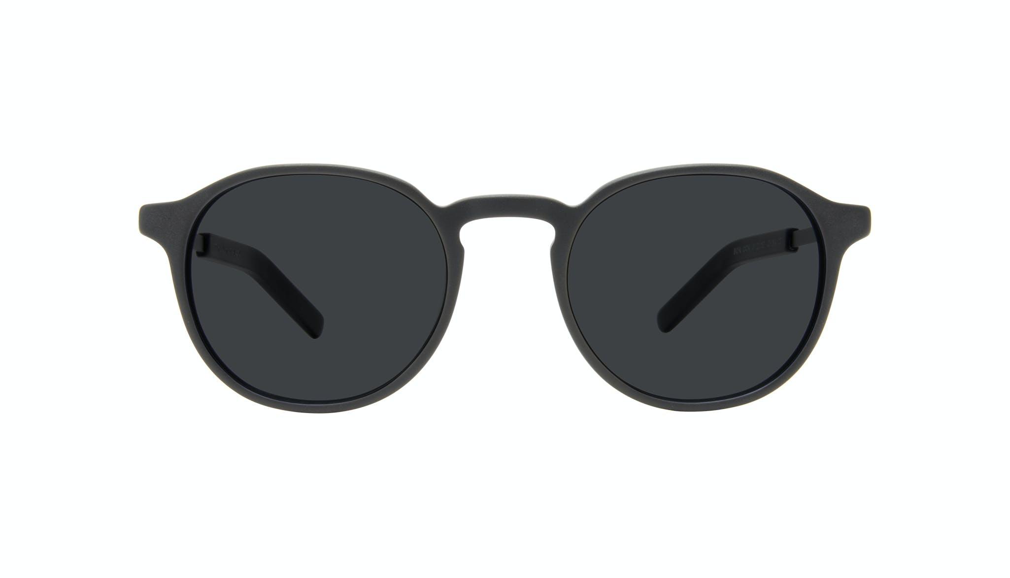 Affordable Fashion Glasses Round Sunglasses Men Prime XL Matte Black Front