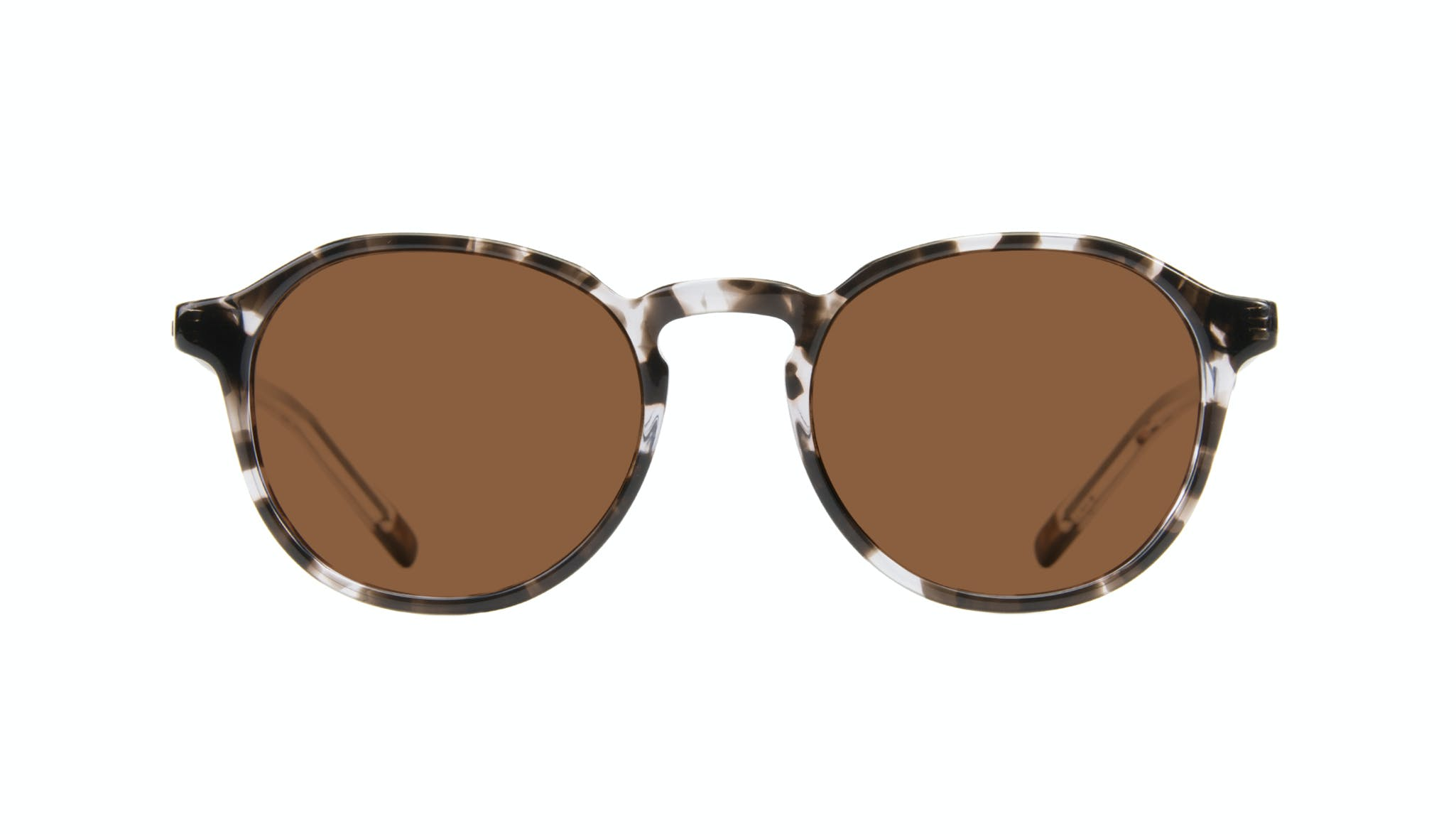 Affordable Fashion Glasses Round Sunglasses Men Prime Mud Tort Front