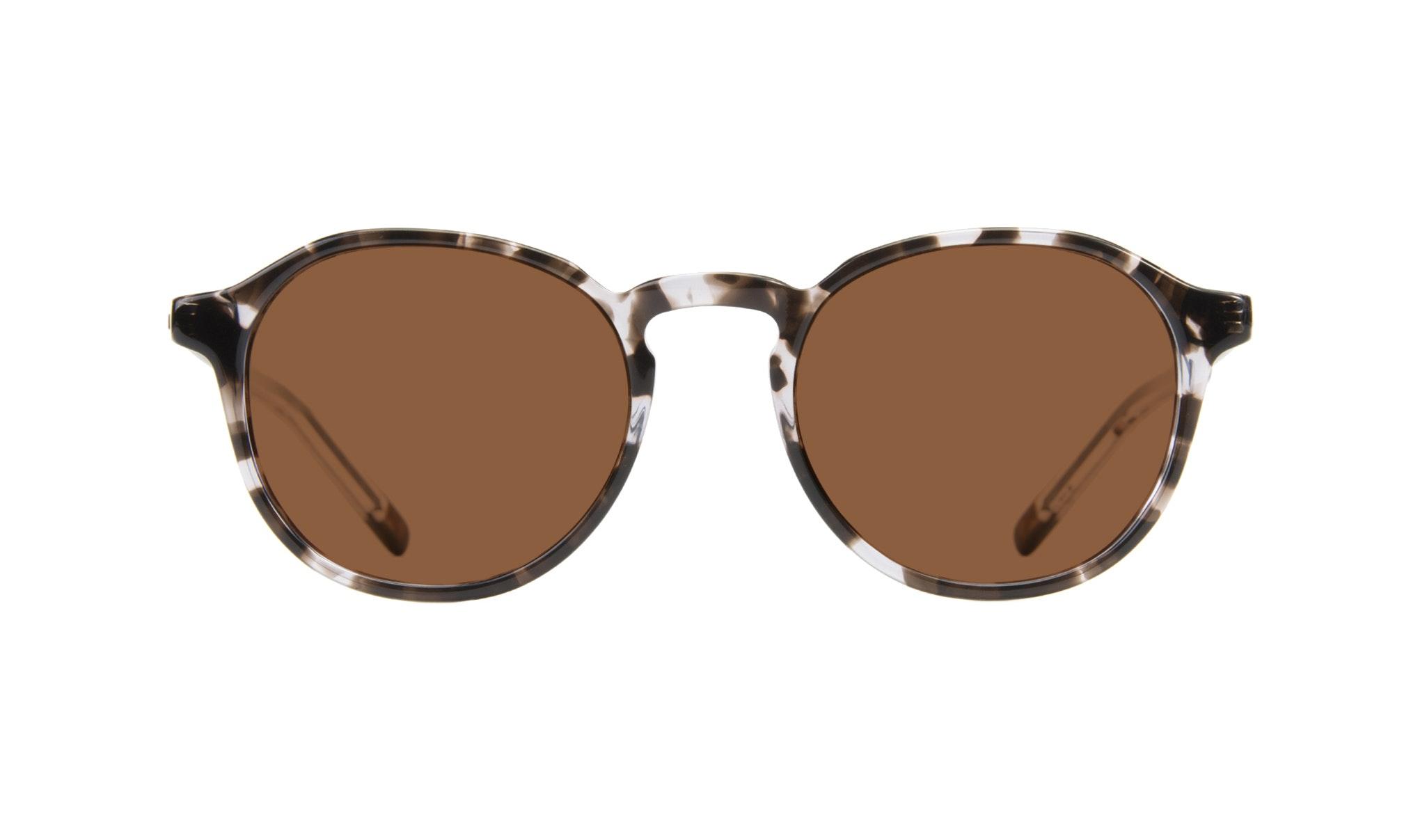 Affordable Fashion Glasses Round Sunglasses Men Prime Mud Tort Front