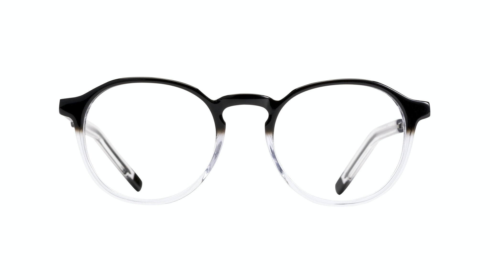 Affordable Fashion Glasses Round Eyeglasses Men Prime Onyx Clear Front