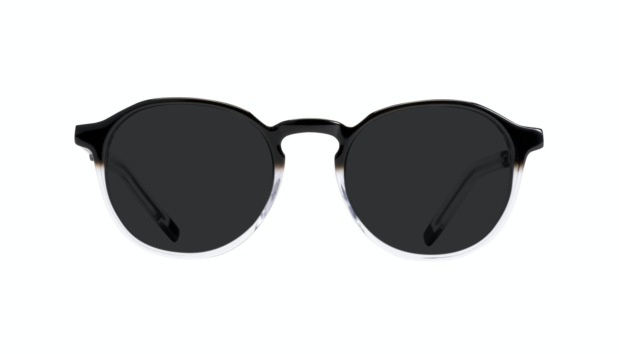 Lunettes tendance Ronde Lunettes de soleil Hommes Prime Onyx Clear Face