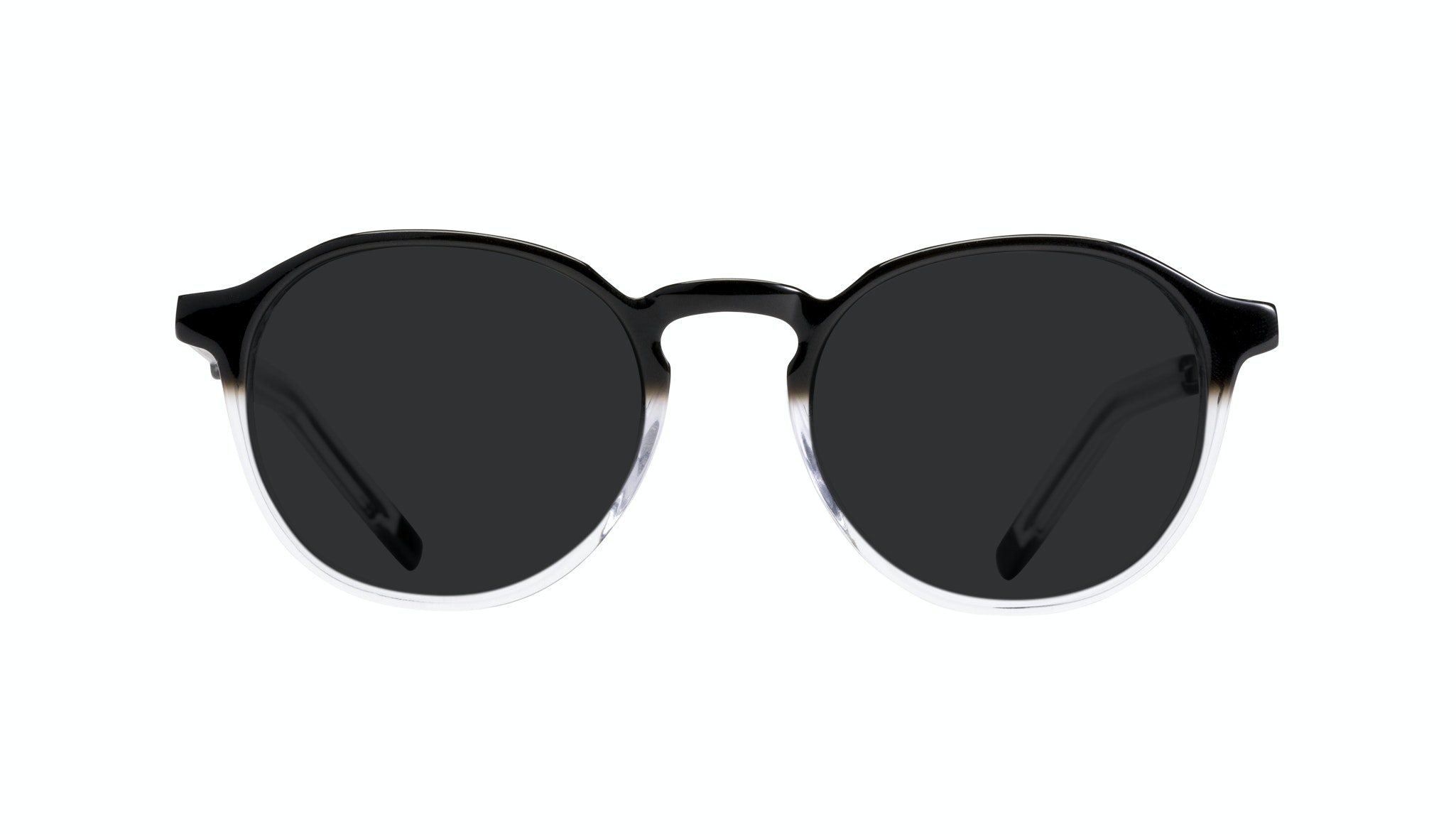 Affordable Fashion Glasses Round Sunglasses Men Prime Onyx Clear Front