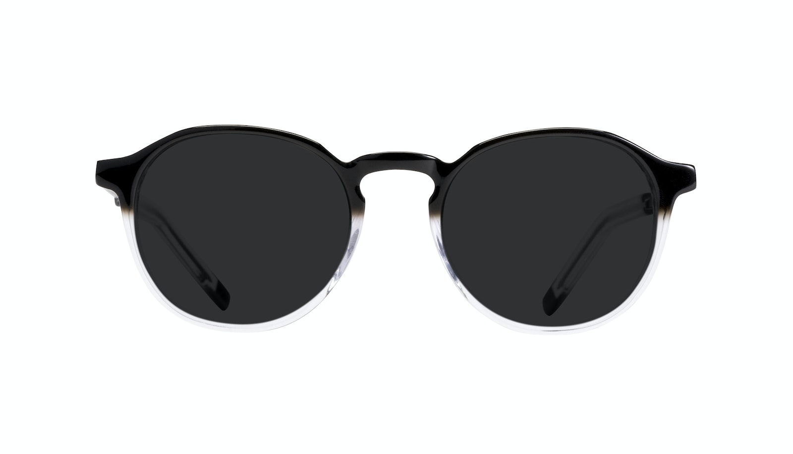 Affordable Fashion Glasses Round Sunglasses Men Prime Onyx Clear