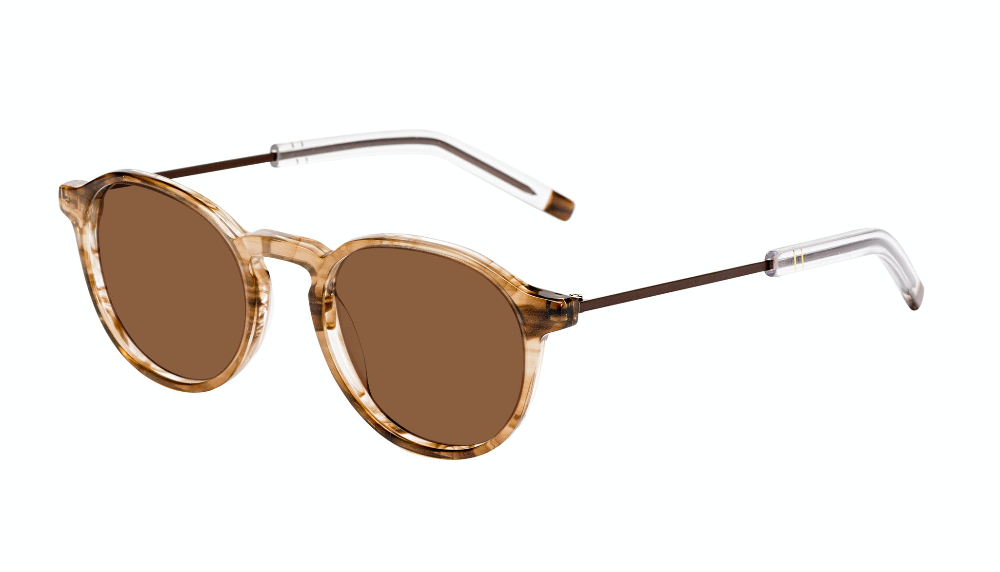 Affordable Fashion Glasses Round Sunglasses Men Prime Smokey Havana Tilt