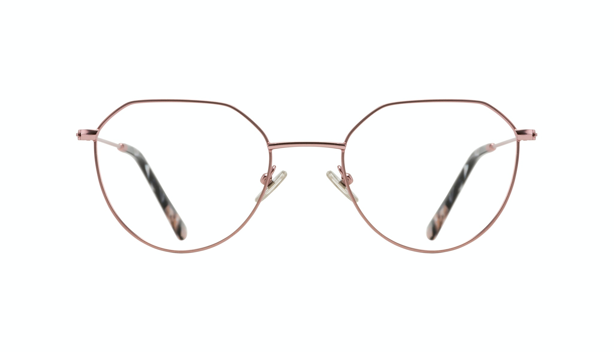 Affordable Fashion Glasses Round Eyeglasses Women Prism Blush Front