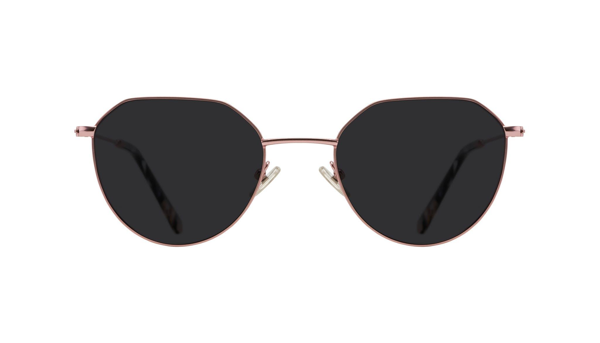 Affordable Fashion Glasses Round Sunglasses Women Prism Blush