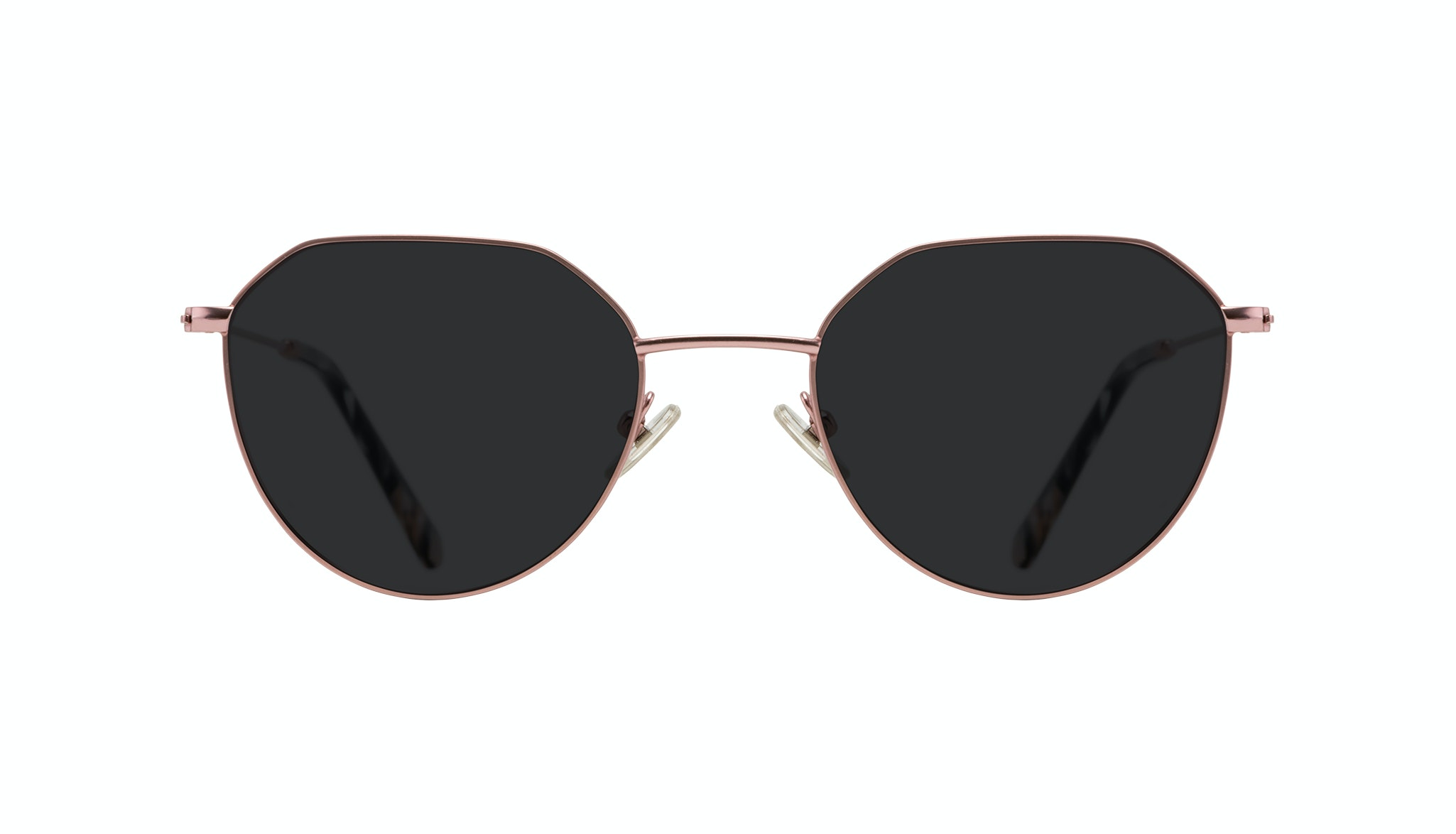 Affordable Fashion Glasses Round Sunglasses Women Prism Blush Front