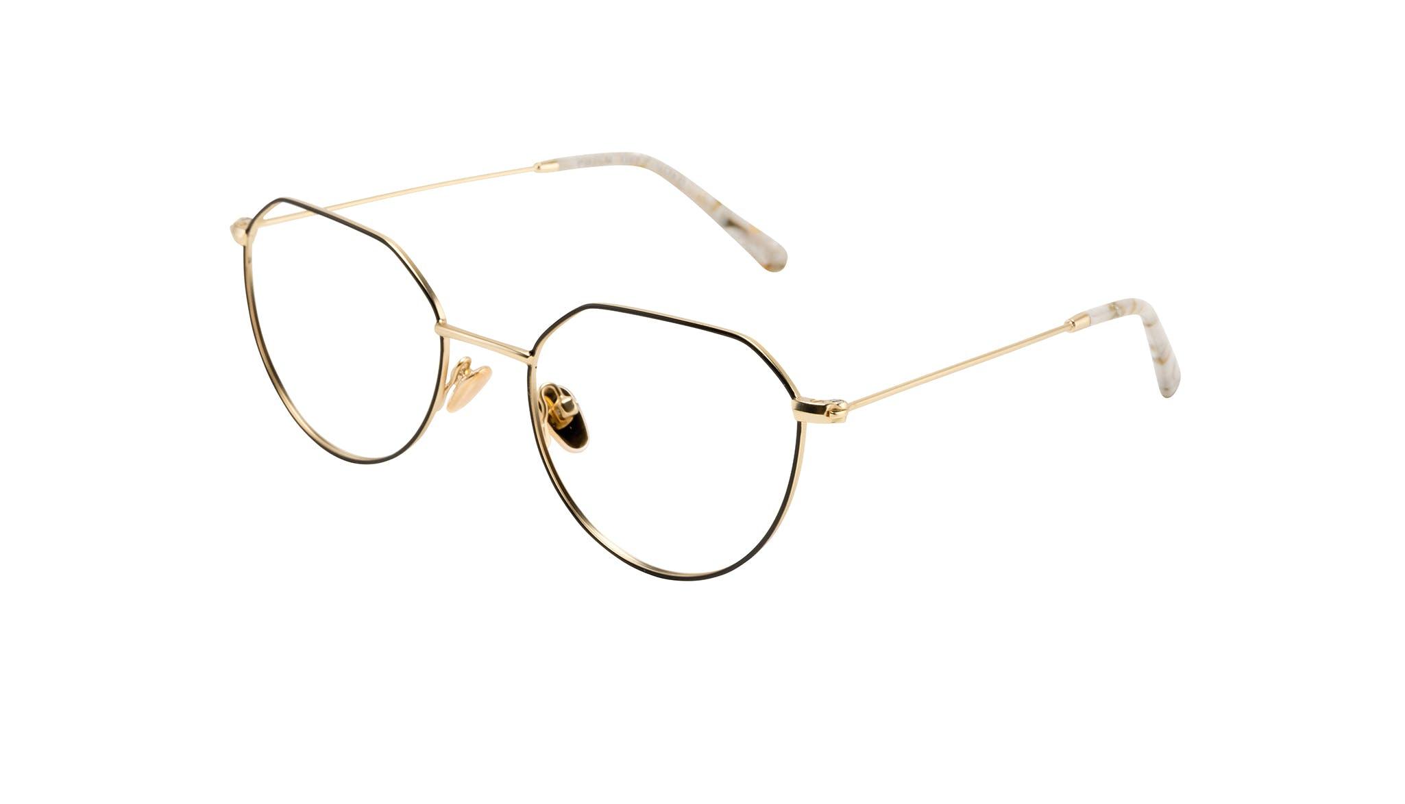 Affordable Fashion Glasses Round Eyeglasses Women Prism Deep Gold Tilt