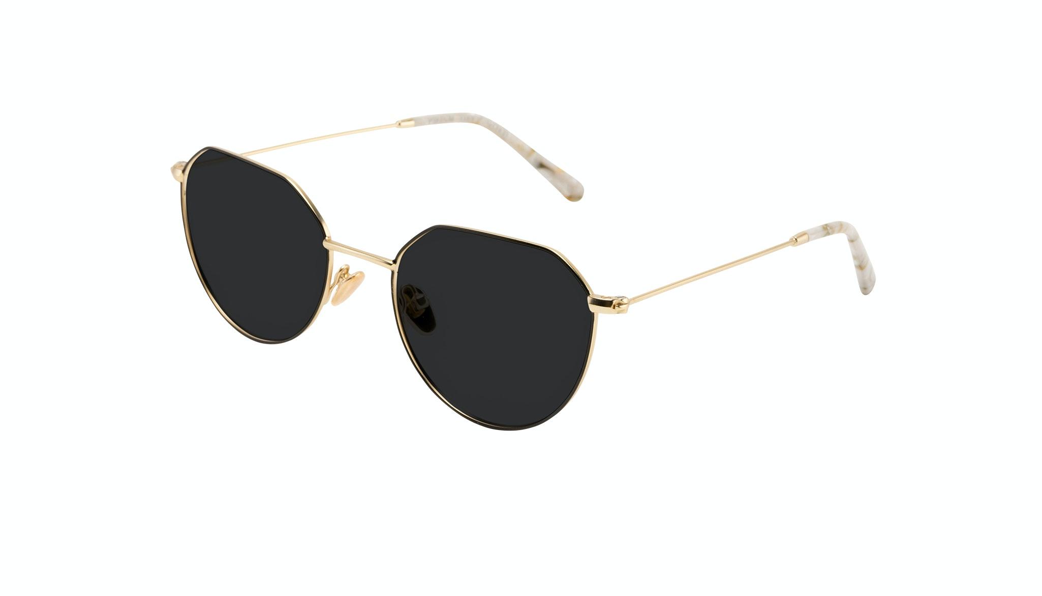 Affordable Fashion Glasses Round Sunglasses Women Prism Deep Gold Tilt