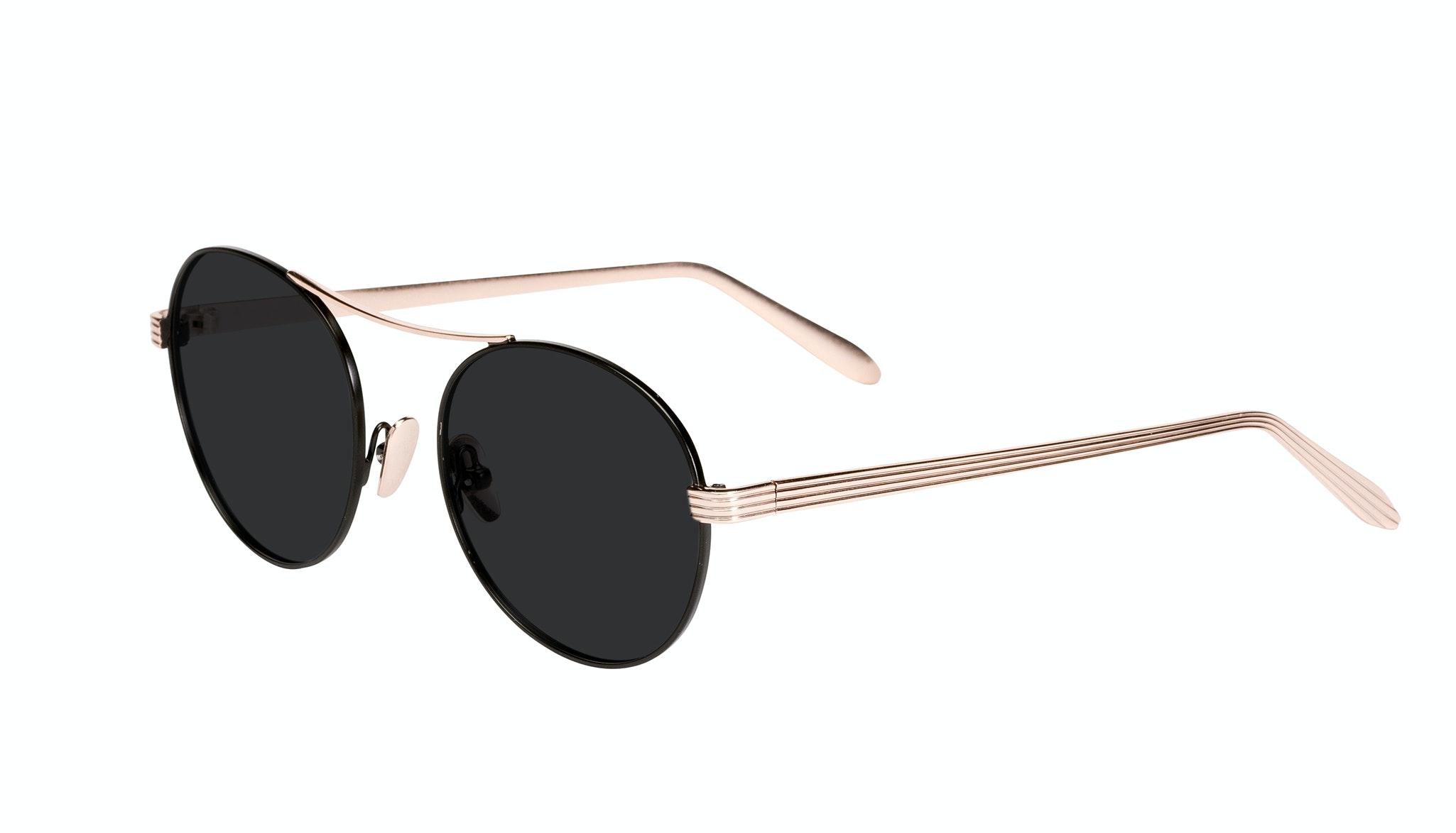 Affordable Fashion Glasses Round Sunglasses Women Prize Deep Gold Tilt