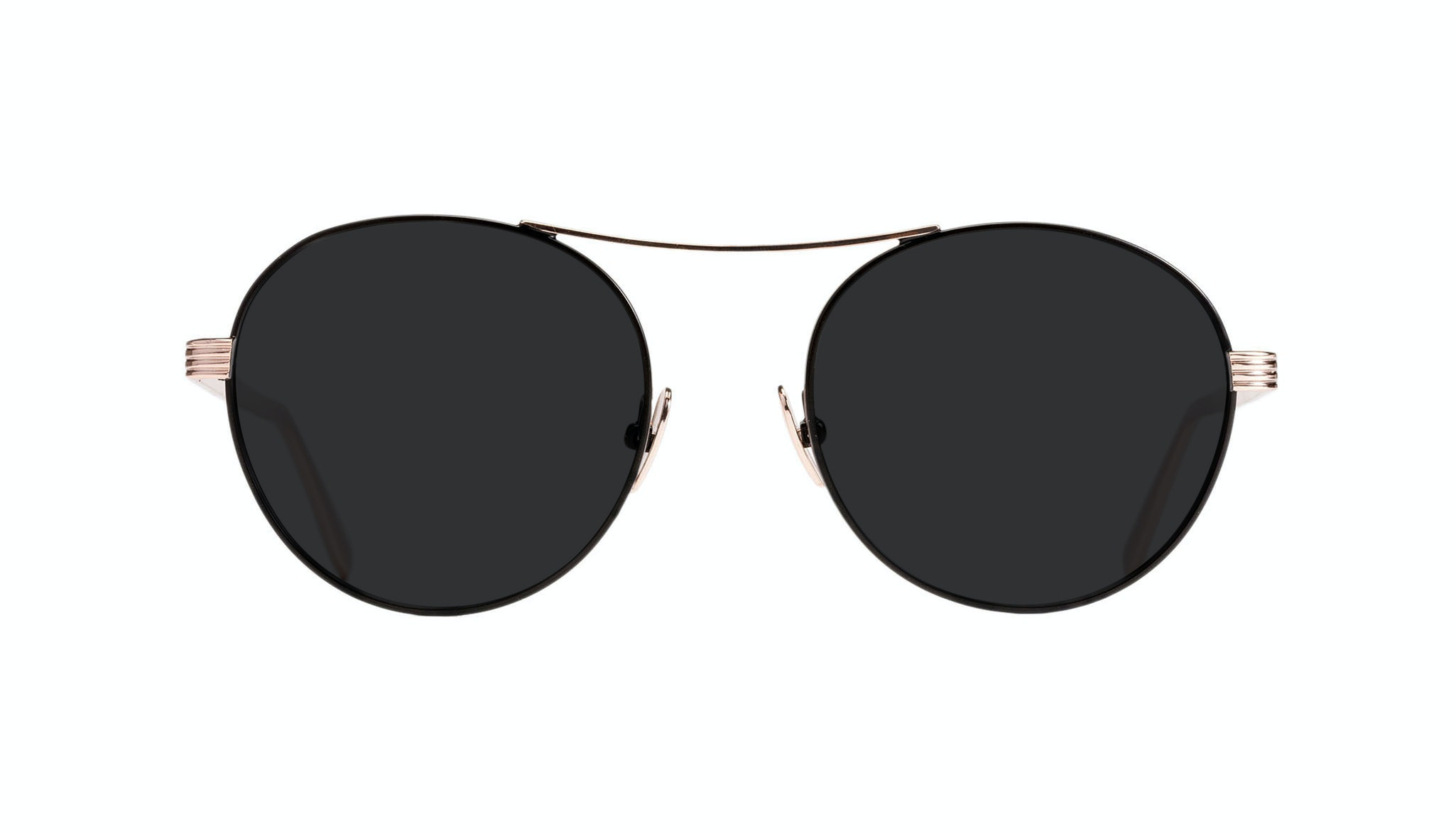 Affordable Fashion Glasses Round Sunglasses Women Prize Deep Gold Front