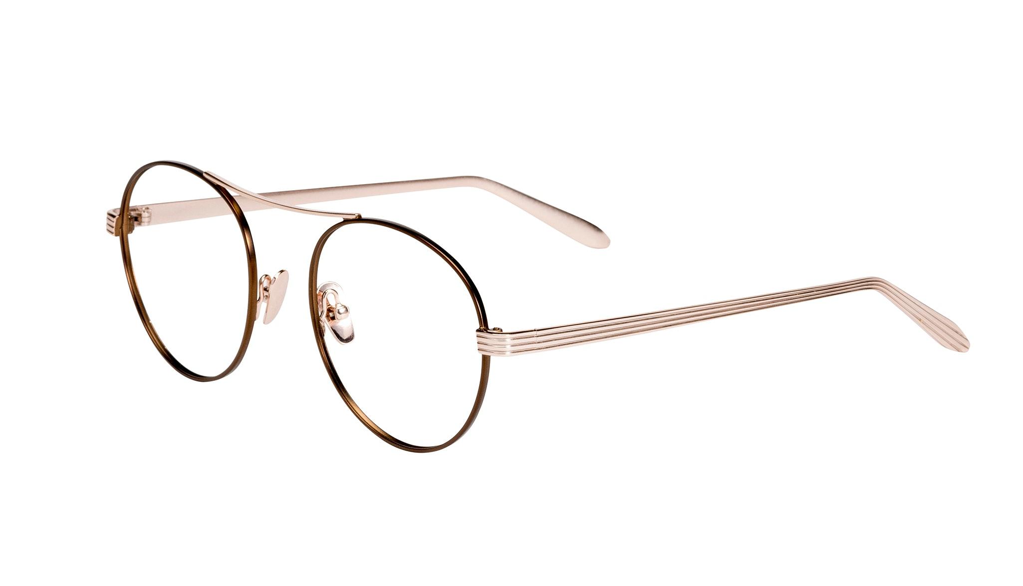 Affordable Fashion Glasses Round Eyeglasses Women Prize Golden Lilac Tilt