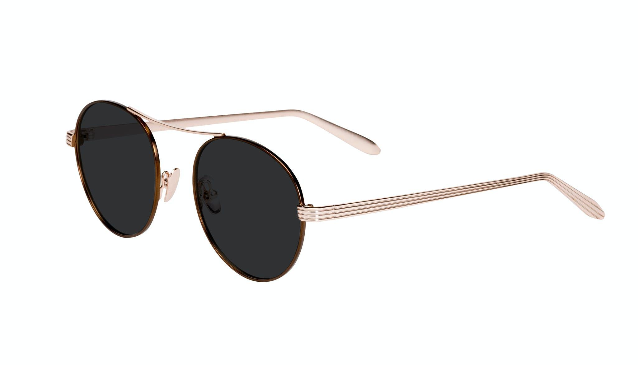 Affordable Fashion Glasses Round Sunglasses Women Prize Golden Lilac Tilt