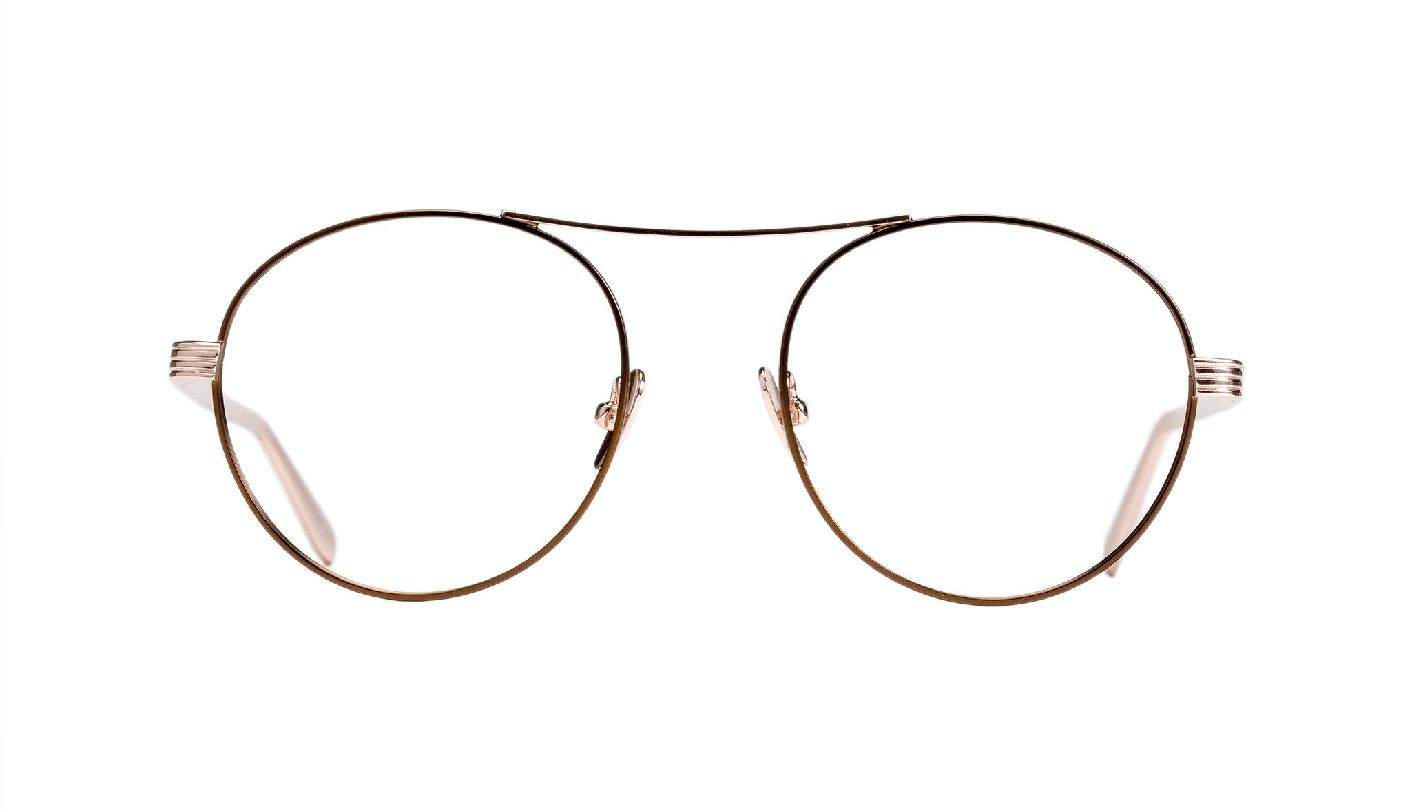 Affordable Fashion Glasses Round Eyeglasses Women Prize Golden Lilac Front