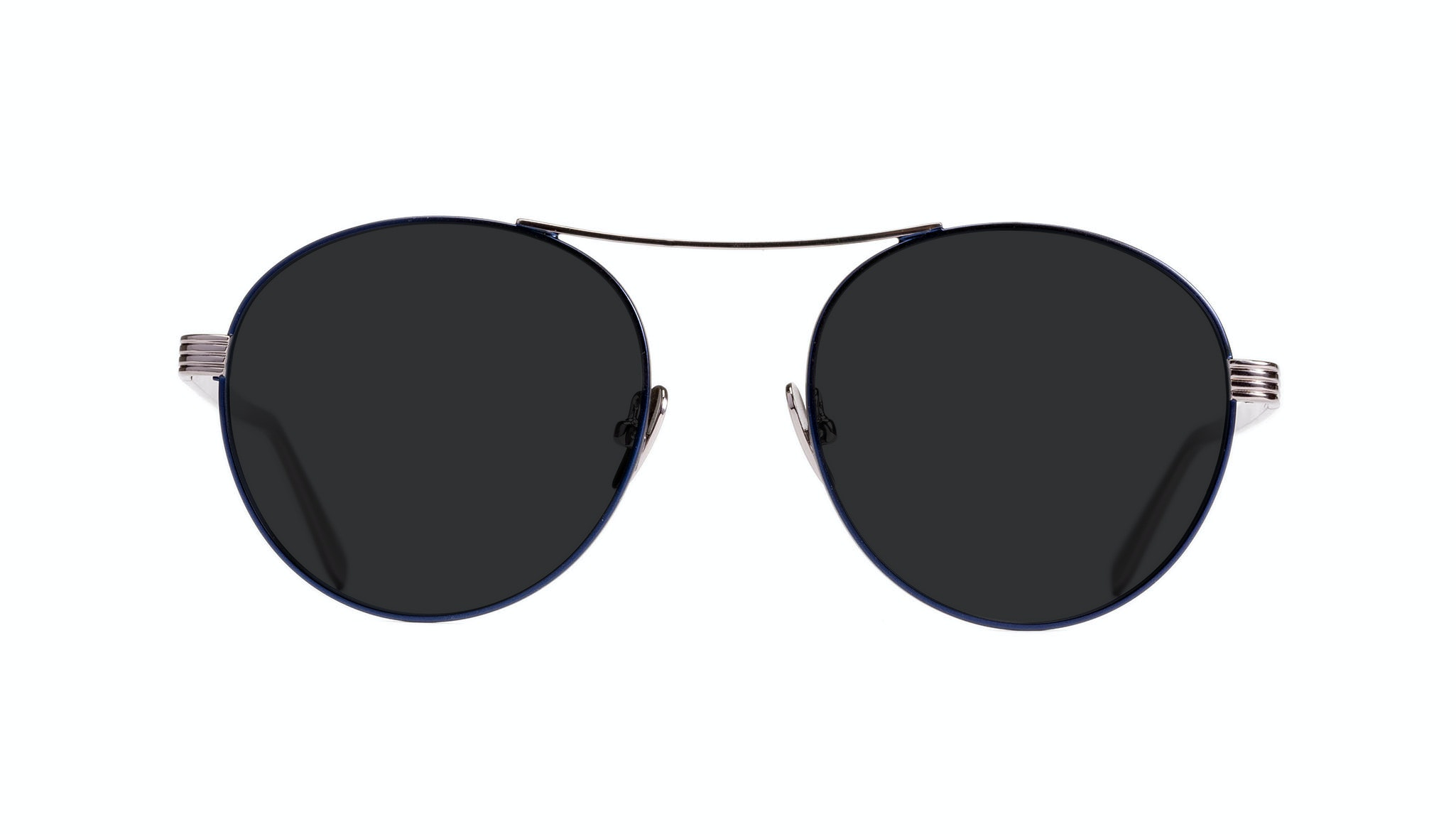 Affordable Fashion Glasses Round Sunglasses Women Prize Midnight Front